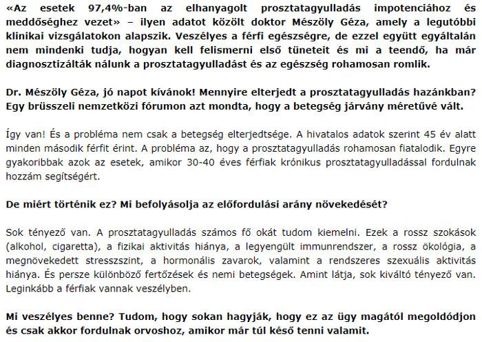 a prosztata adenoma befolyásolja az erekciót)
