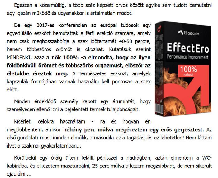 Tabletták a hatékonyság érdekében