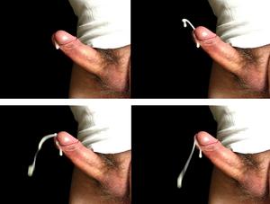 sperma erekció nélkül áramlik)